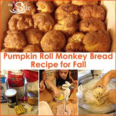 DELICIOUS pumpkin roll monkey bread that is PERFECT for the fall! And for kids!