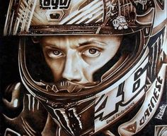 """""""Eyes can explain everything without mouth having to speak. Motogp Valentino Rossi, Valentino Rossi 46, Cafe Racer Honda, Futuristic Motorcycle, Speed Art, Vr46, Picture On Wood, Sport Bikes, Pyrography"""
