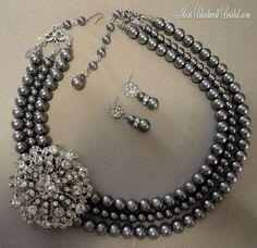 grey pearl set - Google Search