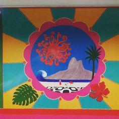 Arte no metrô  #arte #metrô #subway #cores #colorido #MetrôRio #Ipanema #estação #GeneralOsório #DiaLindo #ZonaSul #RioDeJaneiro #Rio #RJ #praia #calçadão #vbatalha