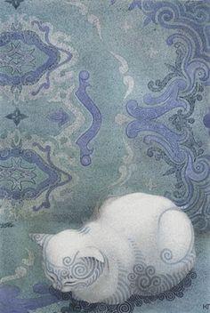 A Polar Bear's Tale: Goncharova Ekaterina - Гончарова Екатерина Юрьевна//Cat listening to Bach