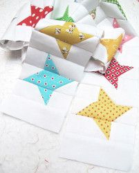 @Lori Holt has a cute way to use scraps to make brand new quilt blocks. You can design your own friendship star quilt pattern with this easy star quilt block pattern.