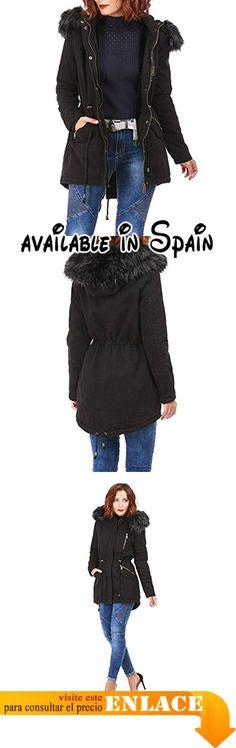 B0779PCWBY : La Modeuse - Abrigo - para mujer negro XX-Large .