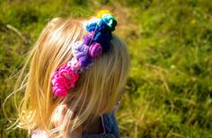 Rainbow crochet flower crown by WaffleandNeep on Etsy