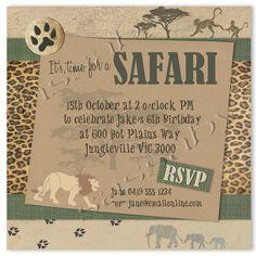 African Safari Birthday Party | Safari Party Invitation - Children's Birthday - DIY PRINTABLE FILE by ...