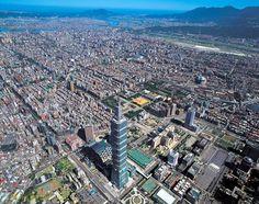 Taipei 101 in Taiwan Travel Around The World, Around The Worlds, Taipei 101, Taipei Taiwan, Urban Pictures, Aerial View, Paris Skyline, City Photo, Places