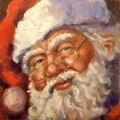 Linda's Artstuff: Santa Painting 2010. → For more, please visit me at: www.facebook.com/jolly.ollie.77