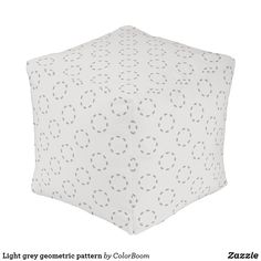 Light grey geometric pattern pouf Make Your Own, Make It Yourself, Grey Home Decor, Grey Cushions, Shop Lighting, Party Hats, Art Pieces, Pattern, Color