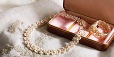Tatted Bridal Necklace and Bracelet Set with Beads - Media - Beading Daily pattern Stylish Jewelry, Dainty Jewelry, Fashion Jewelry, Beaded Wedding Jewelry, Bridal Jewelry, Tatting Jewelry, Tatting Necklace, Needle Tatting, Bridal Necklace