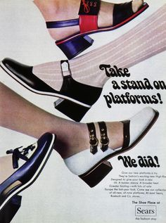 Shoes - fashion Ads of the 1960s. Those heels - why don't they make them like that anymore?