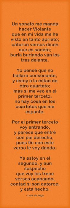 """Un soneto me manda hacer Violante"", Lope de Vega (Madrid, 1562 - Madrid, 1635)."