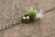 Moss & Pearls Tieback Newborn Photo Prop on Etsy, $16.00