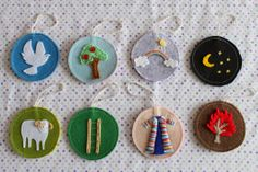the past 2 years I have done the Jesse Tree advent with my boys without any ornaments - well I conceded it's just something I wasn't going to get done and got myself a set of these awesome felt ornaments from Handmade & Home (ornaments 1-8)