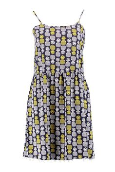 a88d4f40bdf Veronica Pinapple Print Strappy Dress