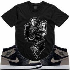 ca12530921ce82 Jordan Retro 1 Shadow Sneaker Tees Shirt - ASTRODUNK Jordan Retro 1