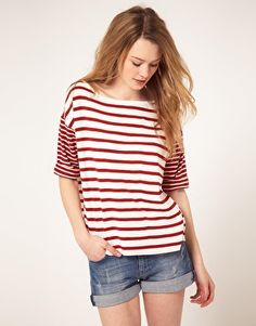 French Connection Big Stripe T-Shirt
