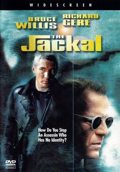 "The Jackal with richard Gere, Bruce Willis, Sidney Poitier. An imprisoned IRA sniper is freed to help stop a brutal ""faceless"" assassin The Jackal from completing his next job. Top Movies, Great Movies, Movies To Watch, Movies And Tv Shows, Awesome Movies, Movie Talk, Love Movie, I Movie, Movie List"
