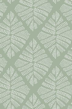 Find this print on cotton percale bed linen from the Feuillage Graphique collection. Motifs Organiques, Motifs Textiles, Textile Patterns, Textile Design, Fabric Design, Web Patterns, Graphic Patterns, Print Patterns, L Wallpaper