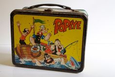 Antique Lunchboxes | Vintage 1964 Popeye Metal Lunch Box. $49.00, via Etsy.