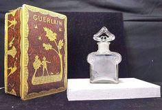 Rare Vintage L' Heure Bleue Guerlain Paris Cristal Romesnil Perfume Bottle & Box #Guerlain