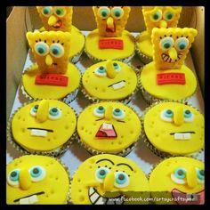 Sponge Bob Cupcakes On Pinterest Sponge Bob Cake