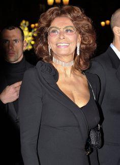 Sophia Loren - Celebrities Attending The Armani Fashion Show During Paris Fashion Week