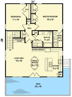 Plan 58569SV: Carriage House For A Sloping Lot ~ Great pin! For Oahu architectural design visit http://ownerbuiltdesign.com