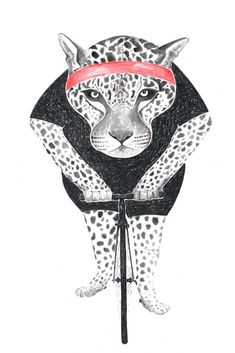 Poster : Leopard / Art Print : Animal on Bike Indie, Why So Serious, Leopard Animal, How To Draw Hands, Moose Art, Illustration, Art Prints, Superhero, Drawings