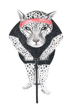 Poster : Leopard / Art Print : Animal on Bike Indie, Leopard Animal, How To Draw Hands, Moose Art, Animal Illustrations, Art Prints, Drawings, Artwork, Berlin