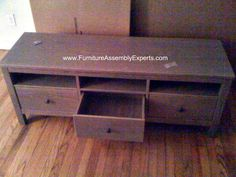 ikea Hemnes Tv stand unit assembled in Baltimore MD by Furniture Assembly Experts Company