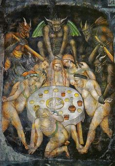 Taddeo di Bartolo - The Last Judgment  (detail of gluttony) c.1394 by Aeron Alfrey, via Flickr