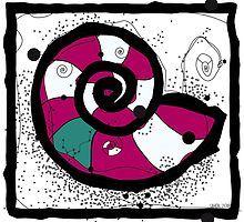 Snail-shell animal sticker by uhol Shell Animals, Snail Shell, Shells, Kids Rugs, Stickers, Artworks, Design, Home Decor, Kunst