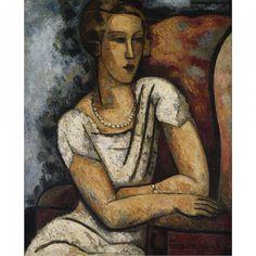Marcel Gromaire, Portrait of Mrs. Dunbar, 1930 on ArtStack #marcel-gromaire #art