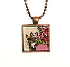 Tortoiseshell Cat Jewelry/ Tortie Kitty by SusanFayePetProjects, $18.00