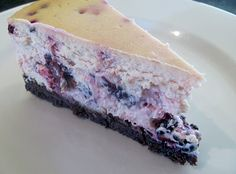 Blackberry, Lime, Goats Cheese & Chocolate Crusted Baked Cheesecake