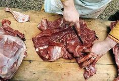 *Butcher at work-Anglo Saxon Diet