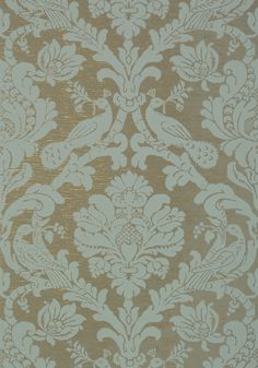 PASSARO DAMASK, Mineral on Charcoal, T89139, Collection Damask Resource 4 from Thibaut