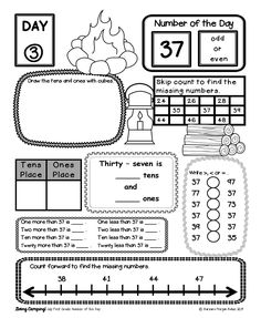 Number of the Day:July  Great number sense practice for first graders!  Kids can't put these down.