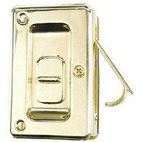 Stanley Hardware Locking Pocket Door Pull, Bright Brass #404040 by Stanley. $11.98. Amazon.com                The Stanley Hardware Locking Pocket Door Pull, Bright Brass deluxe pocket door pull is designed for use with doors that are 1-3/8 to 1-3/4 inches thick, so it's perfect for larger doors. It boasts all-metal construction, a bright brass finish, a privacy locking feature, and a LifeSpan lifetime warranty.                                    Product Descrip...