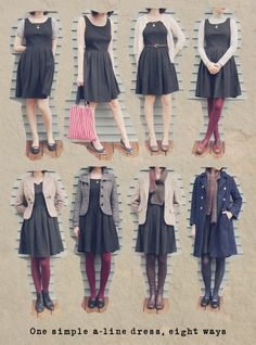 One dress 8 ways