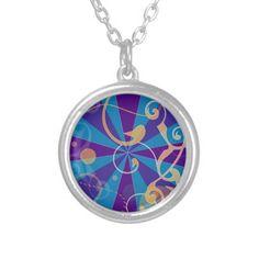 Retro Abstract Funky Swirl Jewelry