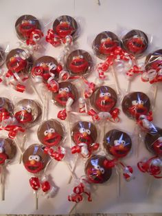 12 Sesame Street Elmo Chocolate Oreo Cookie Pops Lollipops Sucker Birthday gift Party Favor Kids on Etsy, $15.00