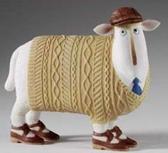 sheep in jumpers ornament - Google Search