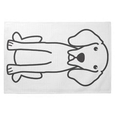 Weimaraner Dog Cartoon Hand Towels