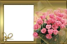 Birthday Photo Frame, Birthday Photos, Creative Flower Arrangements, Good Morning Flowers, Good Morning Greetings, Decoupage Paper, Floral Border, Border Design, Christmas Pictures