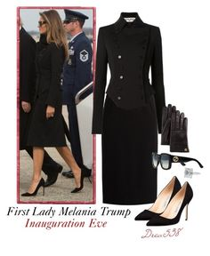 """First Lady Melania Trump on Inauguration Eve"" by drea538 ❤ liked on Polyvore featuring Dolce&Gabbana, Manolo Blahnik and Gucci"