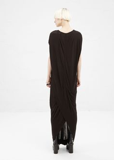 Totokaelo - Rick Owens Black Silk Floating Dress