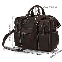 New Leather briefcase. Leather Book bags. Discount by RivieraStyle