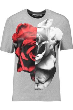 8b58dfa645 MCQ BY ALEXANDER MCQUEEN Floral-print cotton-jersey T-shirt.  #mcqbyalexandermcqueen #cloth #t-shirt