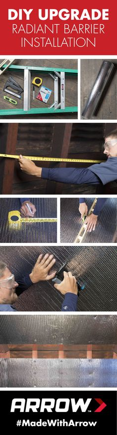 How To Install Radiant Barrier: Use Arrow's T50HS Advanced Professional Staple Gun to install radiant barrier in your home and save big on energy costs in the summer and winter. Follow Arrow Fastener on Pinterest for more home improvement projects! www.arrowfastener.com